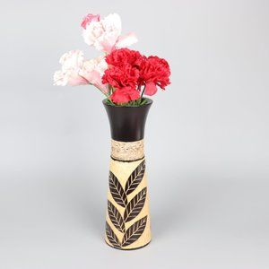 🌟🌟🌟 Handcrafted Wooden Dry Flower Vase